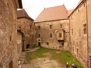 Interior yard of Hunyad Castle